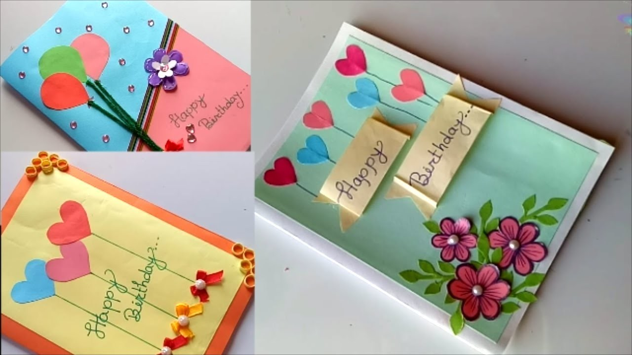 Beautiful handmade birthday card idea diy greeting cards for birthday m4hsunfo