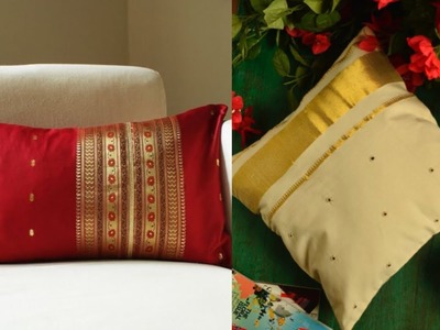 Cushion cover ideas from old saree, new easy home Decor diy ideas from old clothes