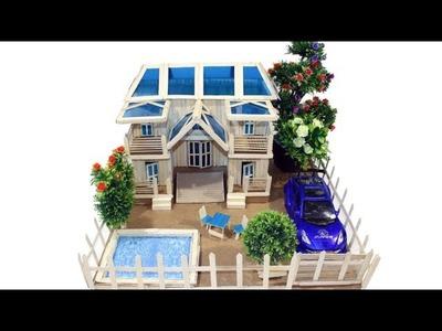 DIY Beautiful Dream House with Hot glue mini Pond