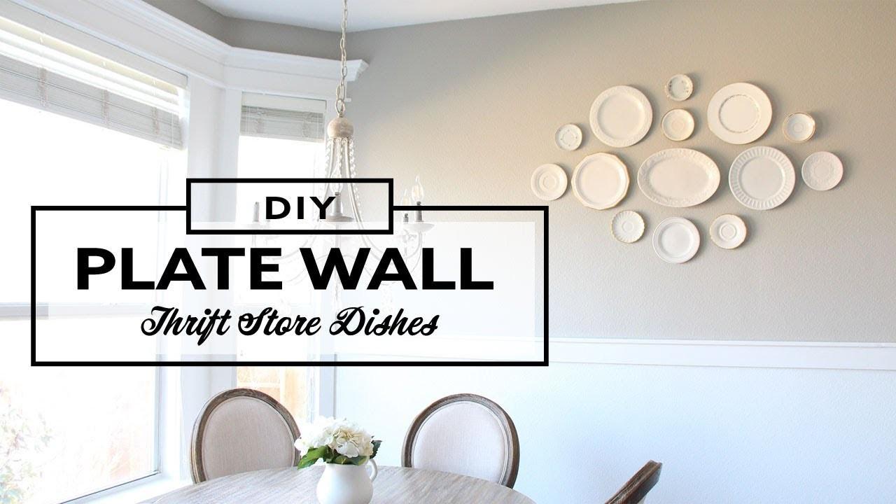 DIY Decorative Plate Wall - Thrifting