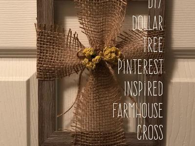 Diy Dollar Tree  Pinterest Inspired  Farmhouse Cross