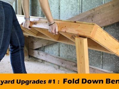 DIY Fold Down Bench Seat ~ Backyard Upgrades #1