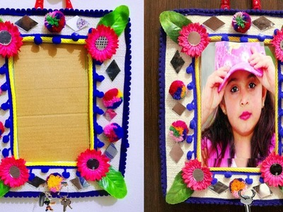 DIY for Home Easy - Unique DIY Key Holder & Photo Frame for Wall - Easy Best out of Waste Home Decor