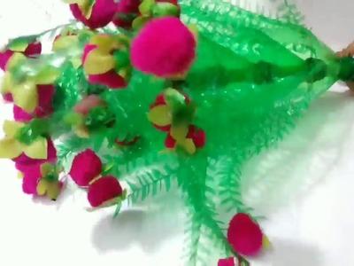DIY:-. Guldasta from waste plastic bottles,