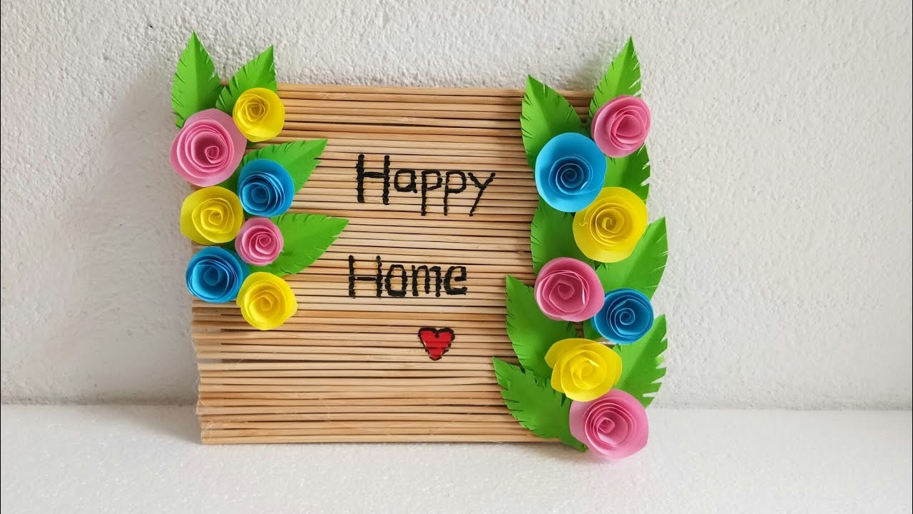 Diy Happy Home Sign Board Diy Home Decor Diy Wall Hanging Easy Craft