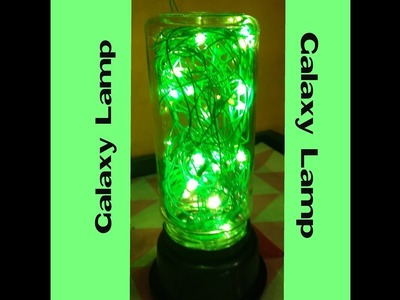 DIY -how to make  a galaxy lamp, best out of waste,empty bottle best use