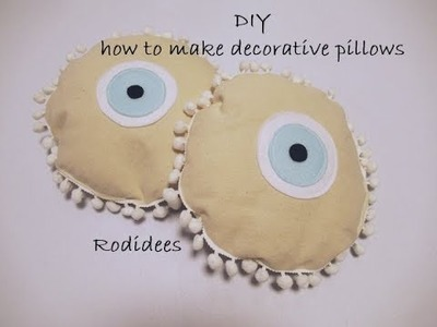 DIY How to make decorative pillows