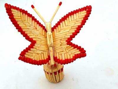 DIY Matchstick butterfly | Amazing butterfly making from matchstick | matchstick art.