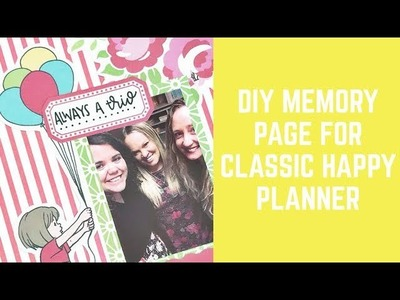DIY Memory Page for Classic Happy Planner