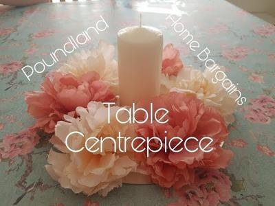 DIY Mirrored Flower Table Centrepiece - Poundland & Home bargains