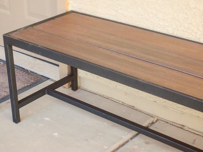 DIY Modern Outdoor Bench.Coffee Table. Metalworking