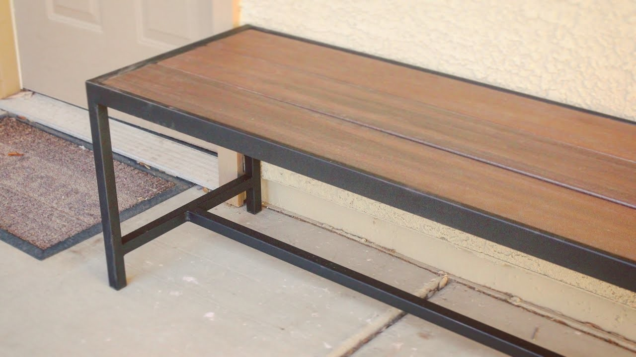 DIY Modern Outdoor Bench.Coffee Table. Metalworking