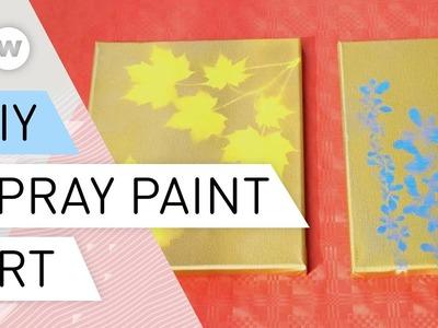 DIY - Nature-themed spray paint art