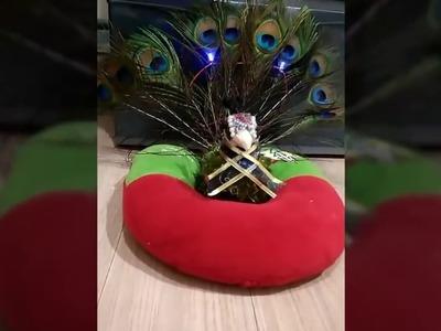 DIY peacock lamp from used goods. DIY membuat boneka merak lampu hias dari bahan bekas