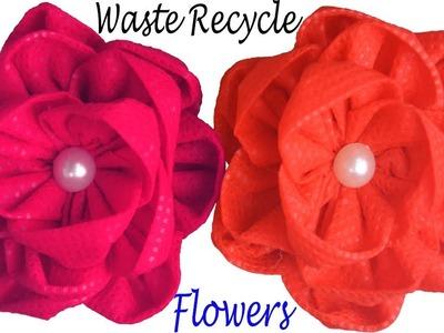 DIY Reuse Fabric Bag Flower || Making Flower Idea of Shopping Carry Bag