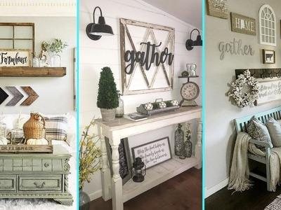 ❤ DIY Rustic Farmhouse Style Wall decor Ideas❤ | Home decor & Interior design| Flamingo Mango