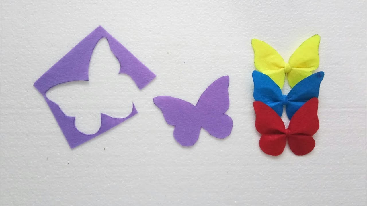Diy Simple Butterflies Hairclip Easy Craft Ideas With Felt Paper