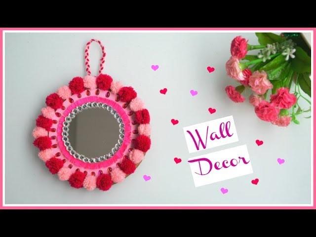 DIY Wall hanging using Pom Pom balls and cardboard || Home Decor Idea