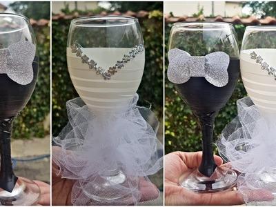 DIY Wedding Glass Decoration Ideas. Wedding Crafts