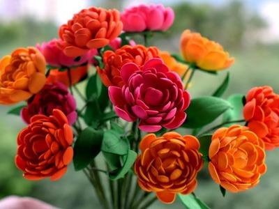 Home Decoration Diy :Foam Sheet Flower Making