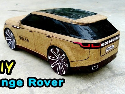 How To Make A RC Car (LAND ROVER , VELAR 2018) #RangeRover #cardboard #Velar #DIY #RC