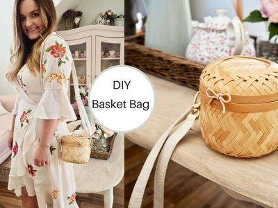 How to make a straw basket bag, wicker bag DIY
