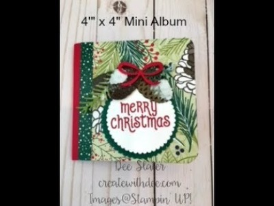 Mini Album Featuring Under the Mistletoe Designer Paper