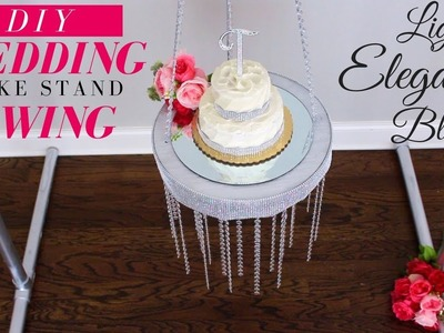 SUSPENDED BLING WEDDING CAKE STAND CHANDELIER | DIY WEDDING CAKE STAND CHANDALIER