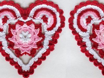 WOW !!! Heart Shaped Rumal Design Woolen Rumal Making | DIY Room Decor | Crafts | Table Mat| Thalpos