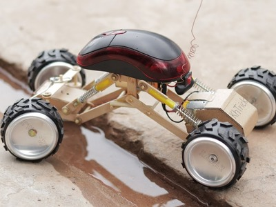 Amazing DIY! How to make power monster truck (Off Road car)