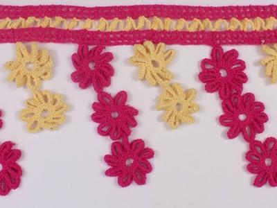 Amazing WOW !! Crochet Toran Pattern   Wall Hanging   Woolen Toran New Design   Making at Home