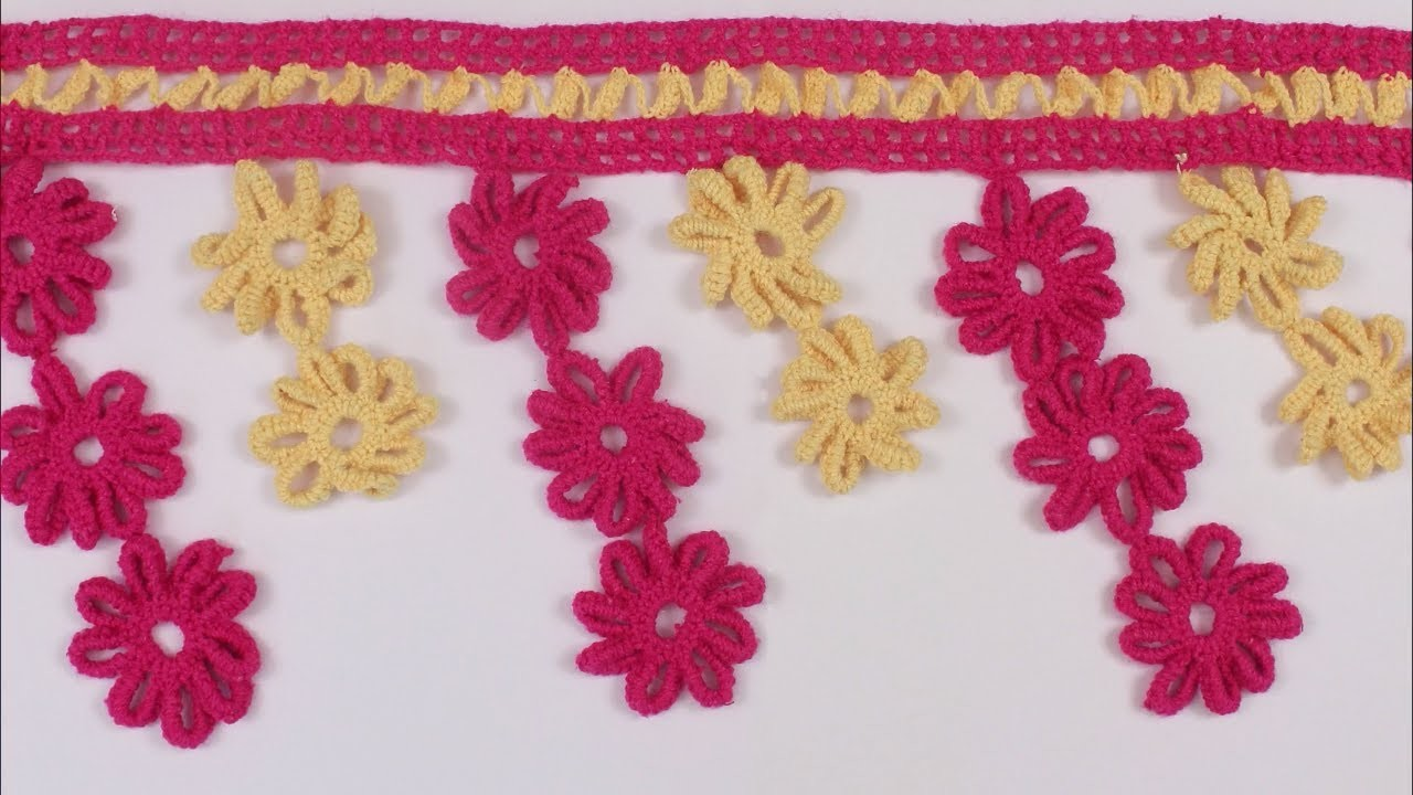 Amazing WOW !! Crochet Toran Pattern, Wall Hanging, Woolen