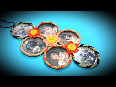 Bangle photoframe. Best out of waste craft with bangles