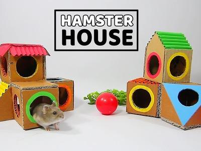 Building The Hamster's Resort From Cardboard- DIY Hamster House