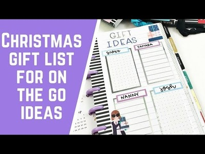 Christmas Gift List for On The Go Ideas