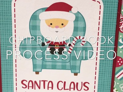 Christmas in July- Chipboard book process video