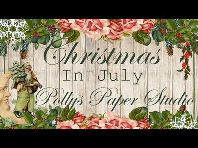 Day 1 of 12 Days of Christmas in July Vintage Pocket with Tags Polly's Paper Studio Tutorial
