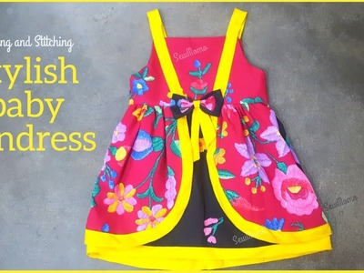 DIY Baby Frock | Baby Sundress Frock Cutting and Stitching