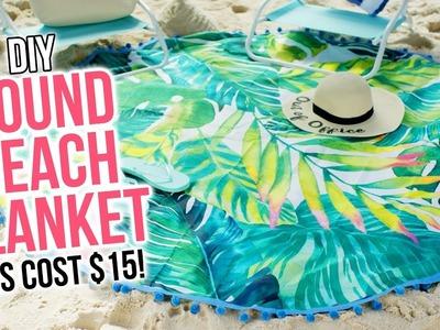 DIY Round Beach Blanket. No Sew Beach Towel (for cheap!) - HGTV Handmade