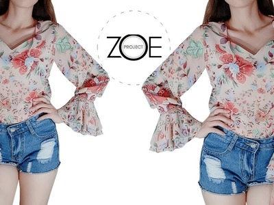 DIY sewing poet sleeve TOP ???? | Zoe diy