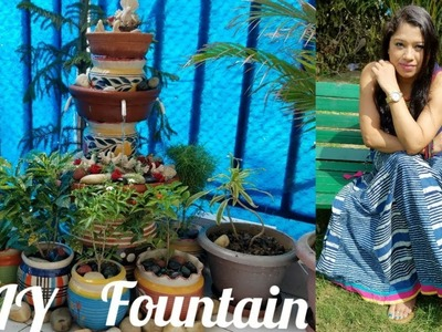 DIY: Terracota.Clay Pot Fountain under Rs 1000 | How To Make Easy & Beautiful Waterfall for balcony