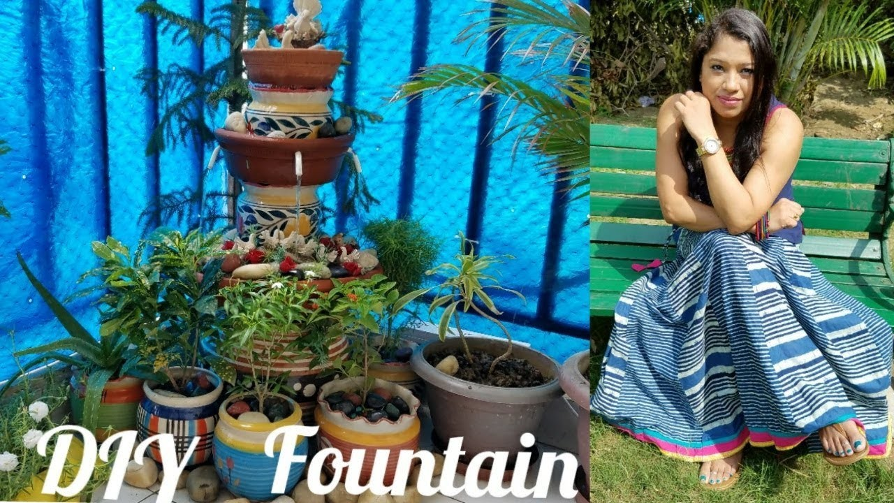 DIY: Terracota.Clay Pot Fountain under Rs 1000   How To Make Easy & Beautiful Waterfall for balcony