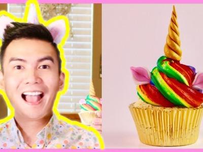 DOUBLE RAINBOW UNICORN CUPCAKE - Cupcakes Po