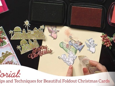 Easy tips and techniques for beautiful foldout Christmas cards