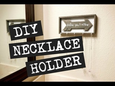Easy Upcycled DIY Necklace Holder