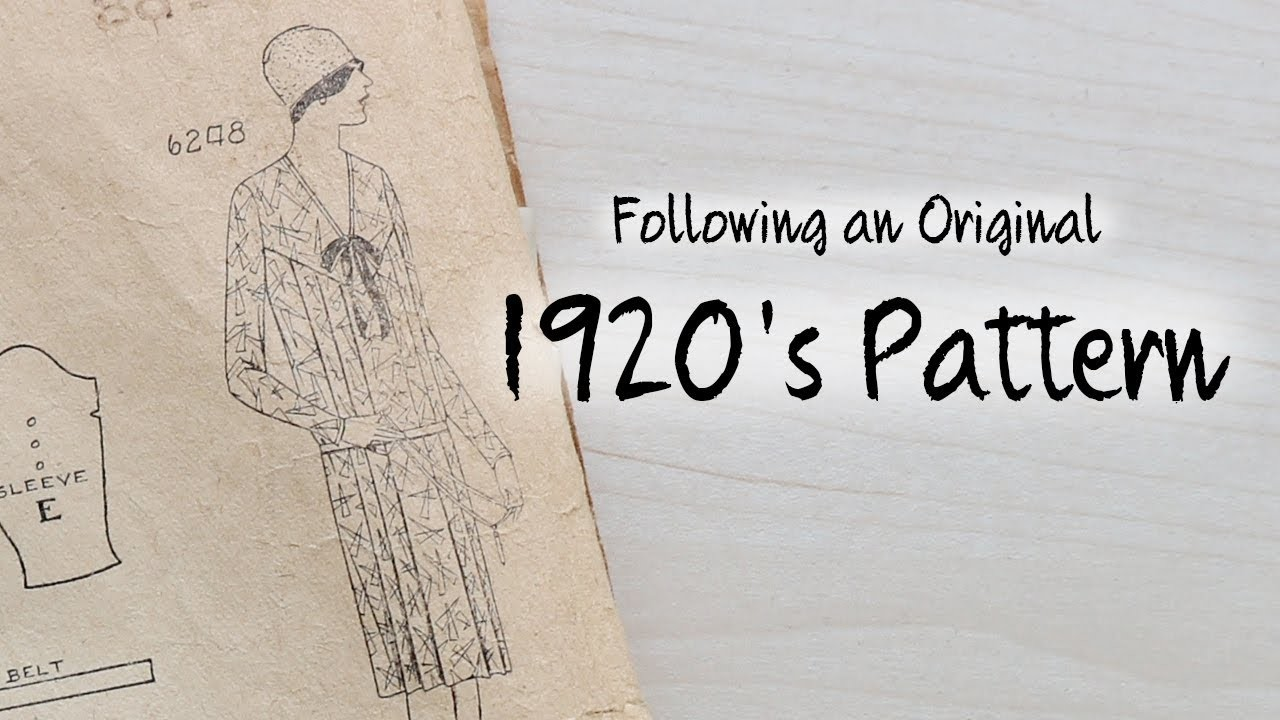 Following a 1920's Dress Pattern : Sewing Through the Decades