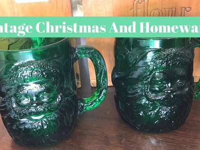 GOODWILL THRIFT HAUL | Vintage Christmas and Homeware!