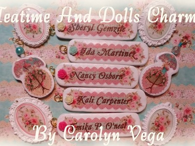 Handmade Shabby Chic Charms And Gift Bags