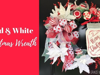 How to: Christmas Wreath - Red & White Peppermint Wreath