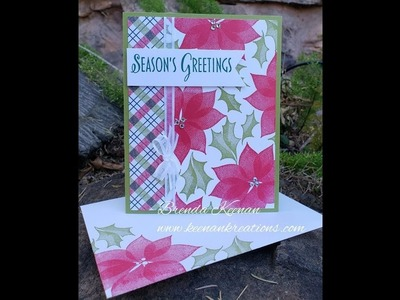 "How to create a ""Stylish Christmas"" card using Stampin' Up! products"